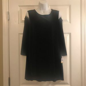 NWT* Black Velvety Cold Shoulder Macy's Blouse
